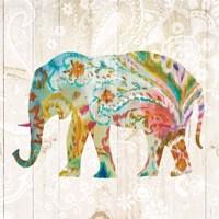 Boho Paisley Elephant II Fine Art Print