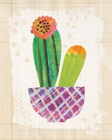 Collage Cactus II on Graph Paper Fine Art Print