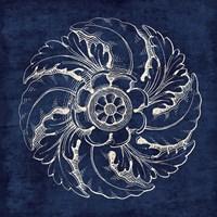 Rosette IV Indigo Fine Art Print
