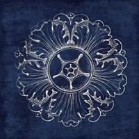 Rosette VI Indigo Fine Art Print
