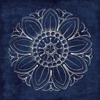 Rosette VII Indigo Fine Art Print