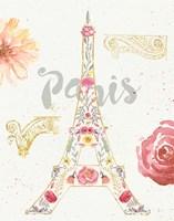Paris Blooms I Fine Art Print