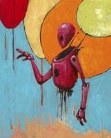 Red Junk Robot Fine Art Print