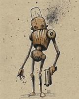 Ink Marker Bot Gunman Fine Art Print