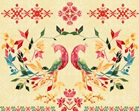 Colorful Birds II Framed Print