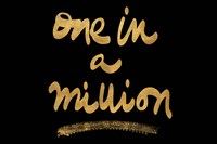Million On Black Fine Art Print