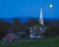 Moonrise Over Peacham Fine Art Print