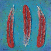 Red Feathers Fine Art Print