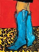 Blue Boots Fine Art Print