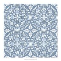 Chambray Tile V Framed Print