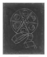 Film & Reel Blueprint II Framed Print
