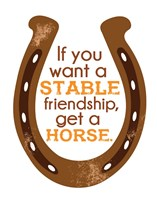 Horseshoe Quote 1 Fine Art Print