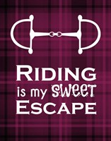 Riding is My Sweet Escape - Red Fine Art Print