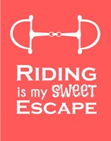 Riding is My Sweet Escape - Orange Fine Art Print