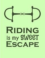 Riding is My Sweet Escape - Lime Fine Art Print