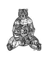 Goodbye Bear Fine Art Print