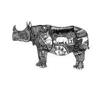 Goodbye Rhino Fine Art Print