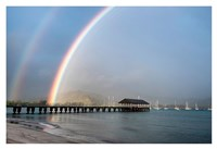 Rainbows at Hanalei Fine Art Print