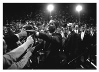 Barack Obama at Campaign Rally Fine Art Print
