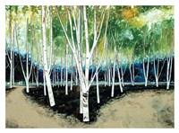 White Trees Fine Art Print