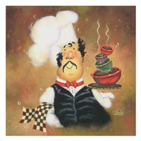 Bow Tie Chef Fine Art Print