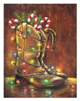 Christmas Boots Fine Art Print