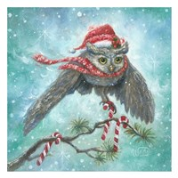 Owl Be Home for Christmas! Fine Art Print