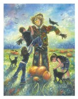 Pumpkin Patch Helping Hands Fine Art Print