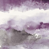 Midnight at the Lake III Amethyst and Grey Fine Art Print