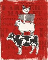 Farmers Market VI Framed Print