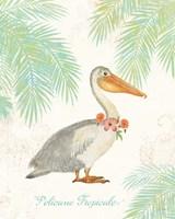 Flamingo Tropicale I Fine Art Print