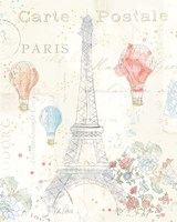 Lighthearted in Paris II Framed Print