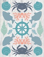 Coastal Otomi IV on Wood Fine Art Print