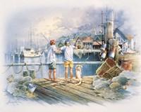 Fishing Dock A Framed Print