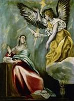 The Annunciation c. 1600 Fine Art Print