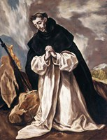 St Dominic in Prayer Fine Art Print