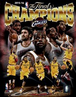 Cleveland Cavaliers 2016 NBA Champions Composite Framed Print