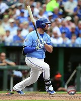 Mike Moustakas 2016 Action Fine Art Print