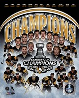Pittsburgh Penguins 2016 Stanley Cup Champions Composite Fine Art Print