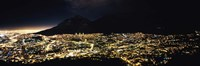 Cape Town at Night,  South Africa Fine Art Print