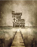 Psalm 136:26, Give Thanks (Sepia) Fine Art Print