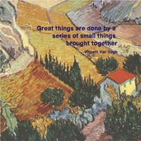 Great Things -Van Gogh Quote 4 Fine Art Print