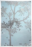 Metallic Tree II - Metallic Foil Framed Print