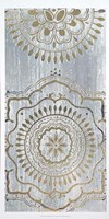 Indigo Mandala II - Metallic Foil Framed Print