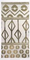 Tribal Pattern in Cream I - Metallic Foil Fine Art Print