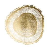 Gold Foil Tree Ring I - Metallic Foil Framed Print