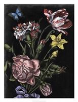 Dark Floral IV Framed Print