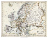 Pastel Map of Europe Fine Art Print