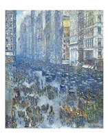 Fifth Avenue, 1919 Framed Print