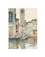 A Bridge and Campanile, Venice, 1902/04 Fine Art Print